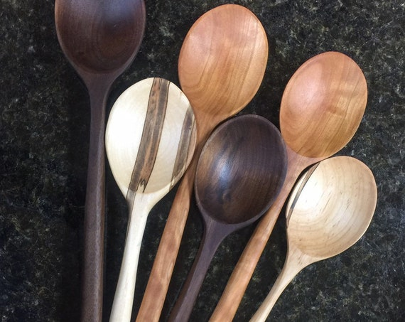 Wooden Spoon Kitchen Utensil. Perfect Kitchen Gift, Hostess Gift,  Bridal Shower Gift or Wedding GIft. Perfect Baking Spoon or Serving Spoon