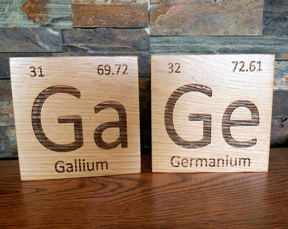 Custom Wooden Periodic Table Element Tiles