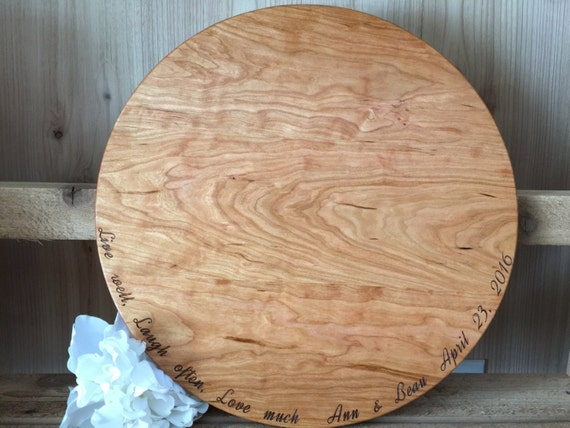 Live Well Laugh Often Love Much Cutting Board Engraved with Names & Wedding Date in Maple, Walnut, Cherry or White Oak Wood