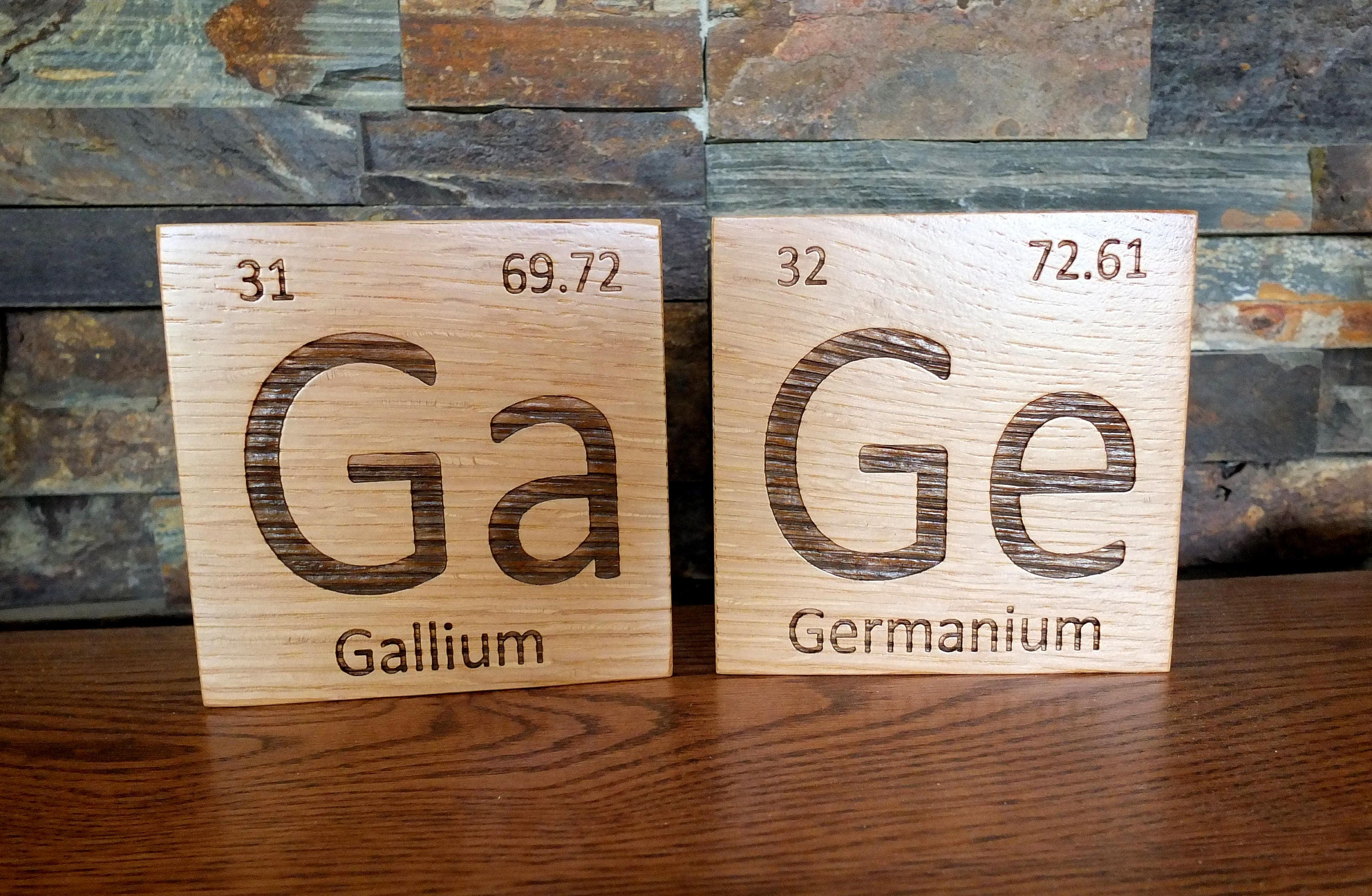 Wooden periodic table element tiles in white oak wood periodic wooden periodic table element tiles in white oak wood periodic table wooden tiles chemistry science graduation gift teacher gift professor urtaz Images