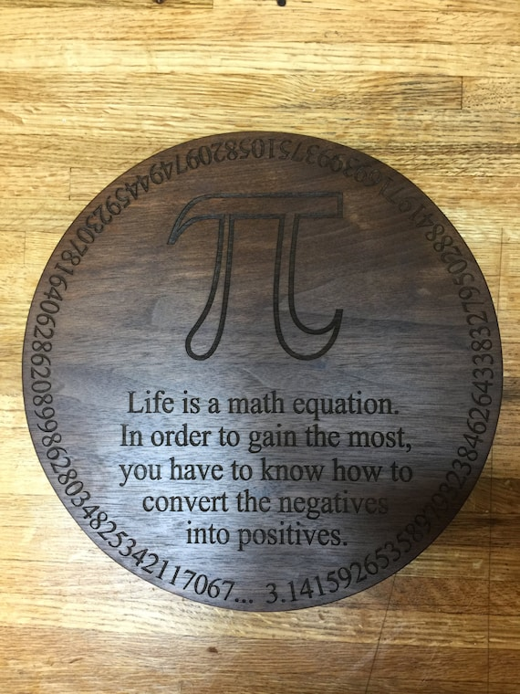 Pi  science themed cutting or serving board . Math themed pie plate, great graduation gift or teachers gift!