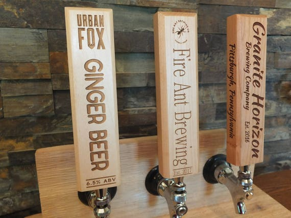 10 Custom Tap Handles. Laser Engraved Tap Handles for the Craft Brewer, Craft Beer, or Coffee Bar.