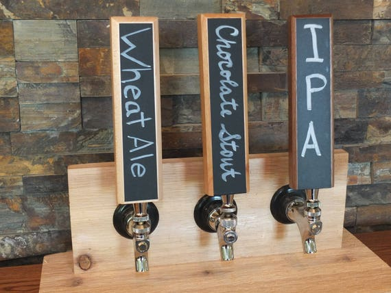 Chalkboard Tap Handle.  Home Bar Gifts for Men. Home Brew Beer Handle for Man Cave or Craft Beer. Wooden Beer Tap Handles