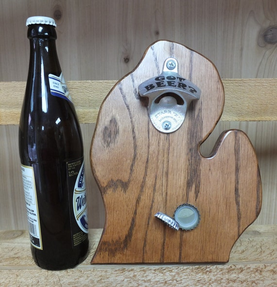 Michigan Bottle Opener. Lower Peninsula. Great gift for the Michigan lover, beer lover or anyone who needs to open a bottle.