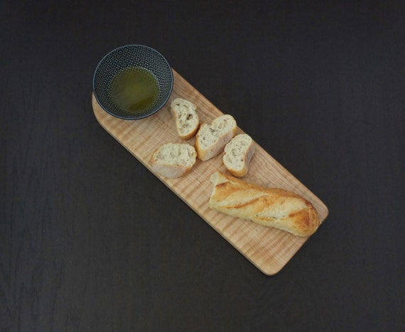 Curly Maple bread board, cheese board or charcuterie board. Beautiful hostess, anniversary, wedding  or housewarming gift!
