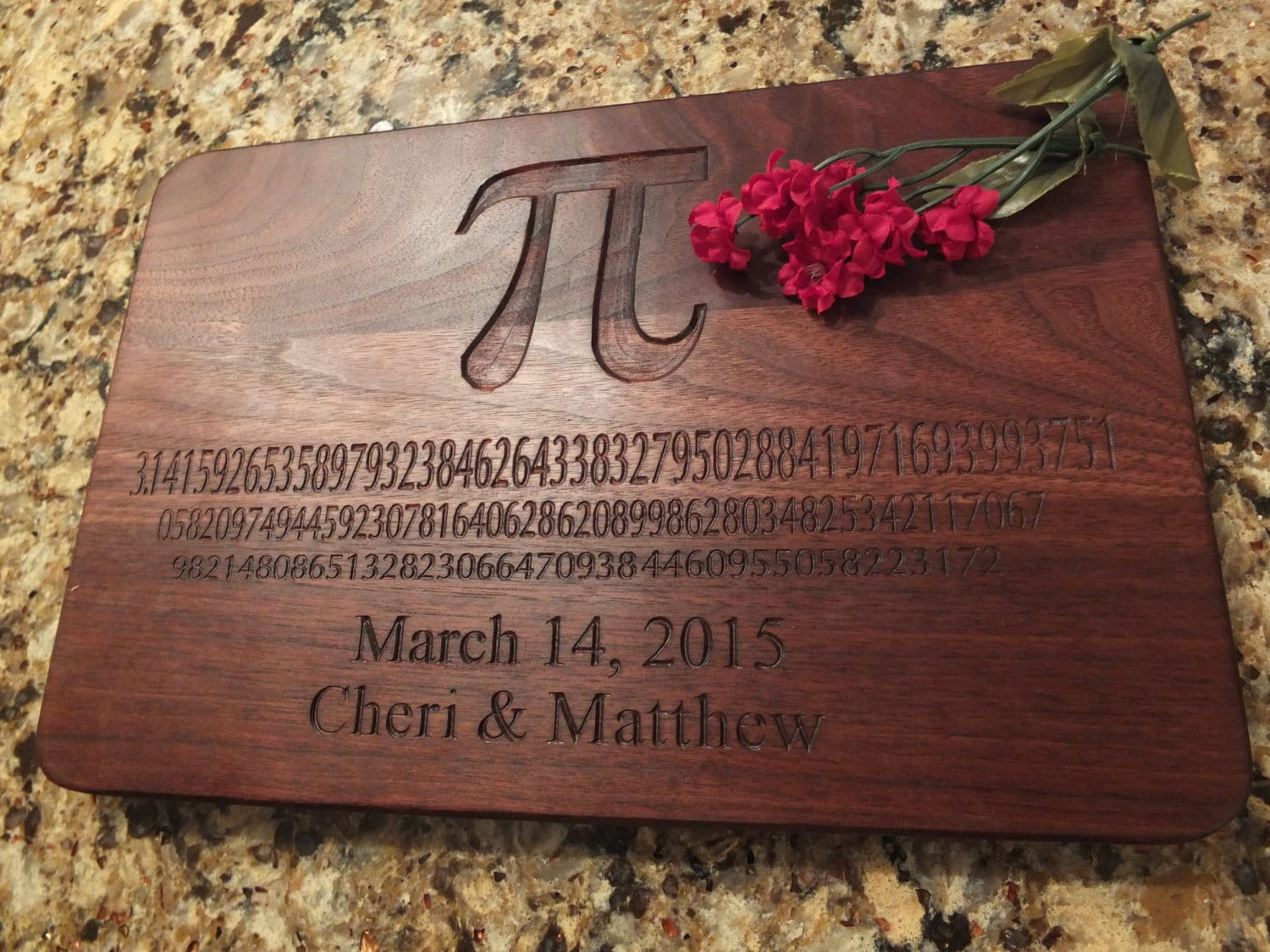 Pi Day Engraved Cutting Board Or Serving Board Great Math Themed Cutting Board Great Geek Gift Graduation Gift Or Teachers Gift