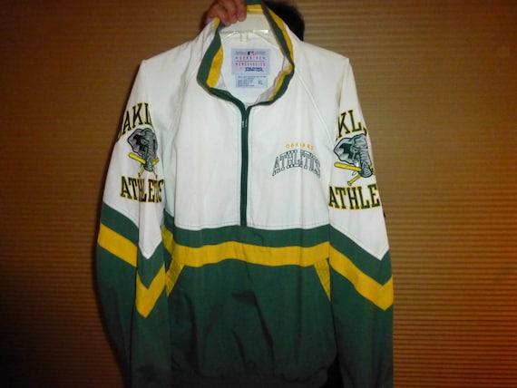 online retailer a1065 a3f99 Rare Oakland A'S Starter pullover jacket elephants on the sleeve OOAK