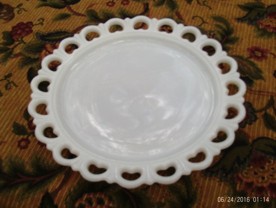 Milk Glass Dish With Articulated Edge
