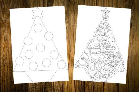 Downloadable Printable Cards Color in Projects Santa Claus | Etsy