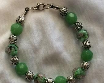Jade Flower Bracelet