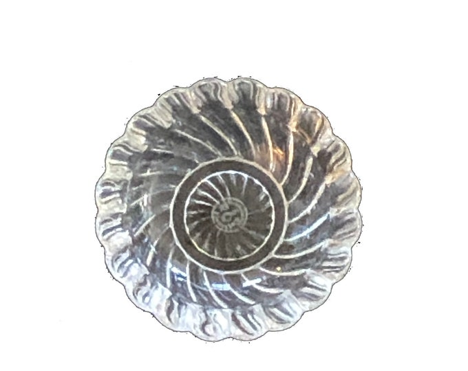 Vintage Baccarat Crystal Bambous Swirl Dish