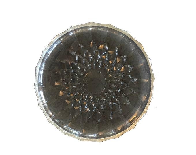 Art Deco Val St Lambert Crystal Bowl and Platter