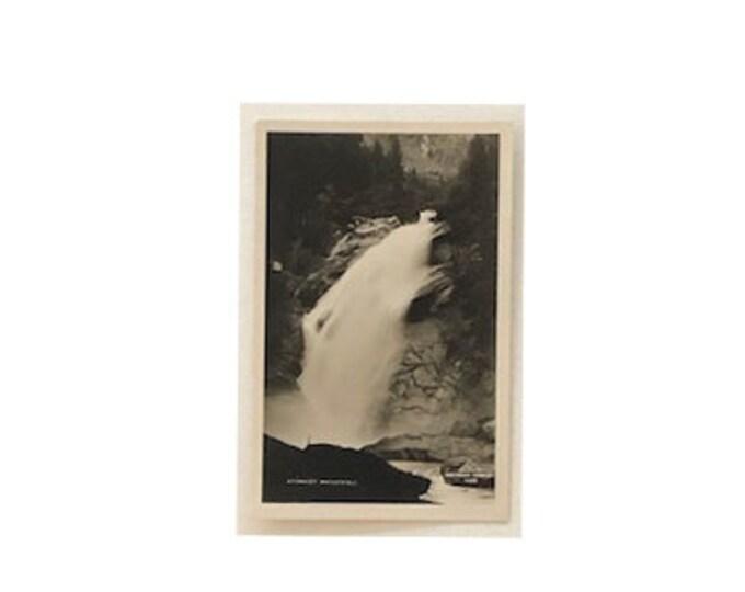 Vintage Krimmler Wasserfall Salzburg Germany Waterfall Postcard