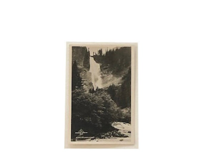 Vintage Krimmler Wasserfall Austrian Waterfall Photo Postcard