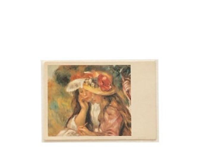 Vintage Renoir Les deux soeurs. 1910. The two sisters. Postcard