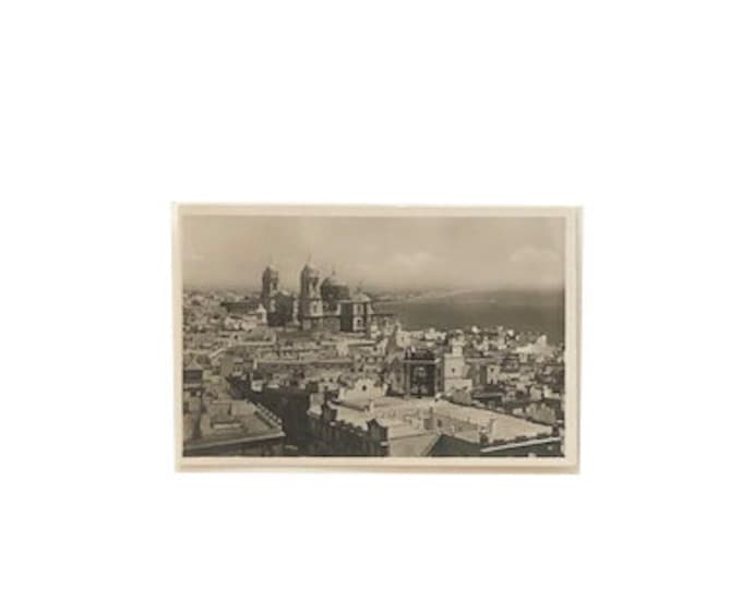 Vintage Panorama of Cadiz Spain Photo Postcard