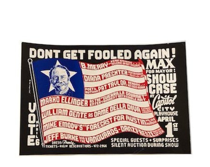 Vintage Voting Poster by Michael Priest