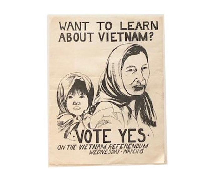 Vintage Vietnam War Propaganda Flyer