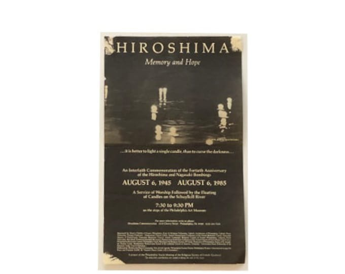 Vintage Hiroshima Memory and Hope Commemoration Flyer 56