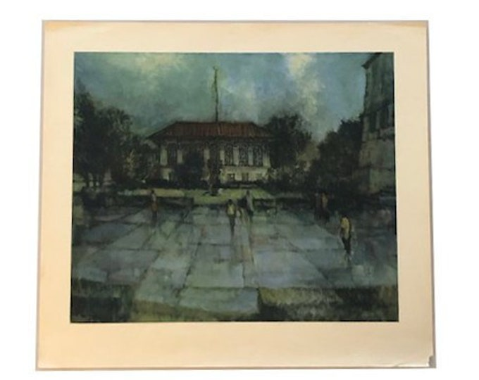 Vintage John Guerin Old Library University of Texas Print