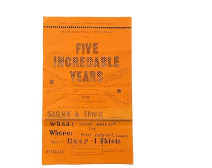 Vintage Five Incredable Years Theatre Poster