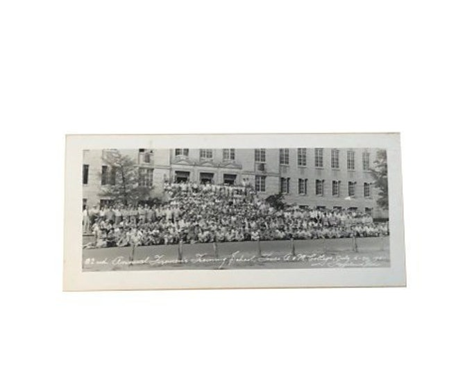 Antique Texas A&M Firefighter Training School 1951 Photograph