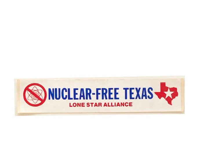 Vintage Nuclear Free Bumper Sticker 20