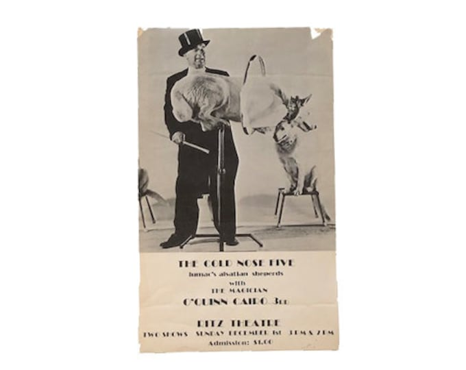 Vintage Cold Nose Five Magician Poster The Ritz