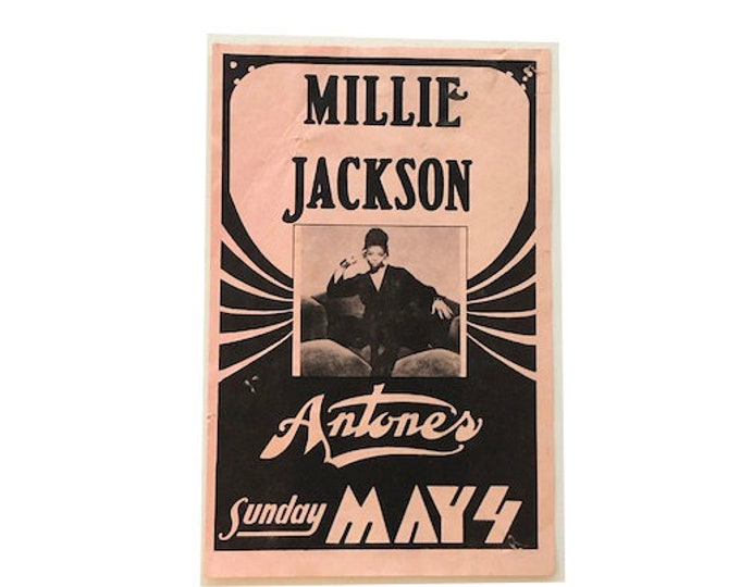 Vintage Millie Jackson Antones Concert Band Flyer Poster