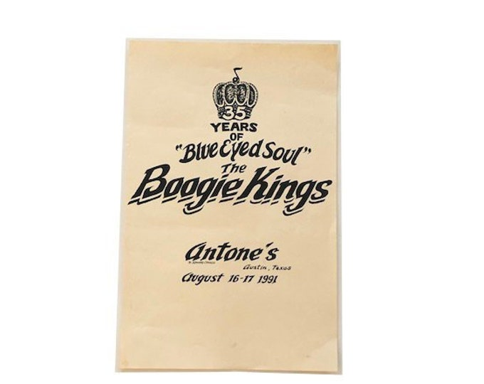 1991 Boogie Kings Antones Edward Canada Concert Poster