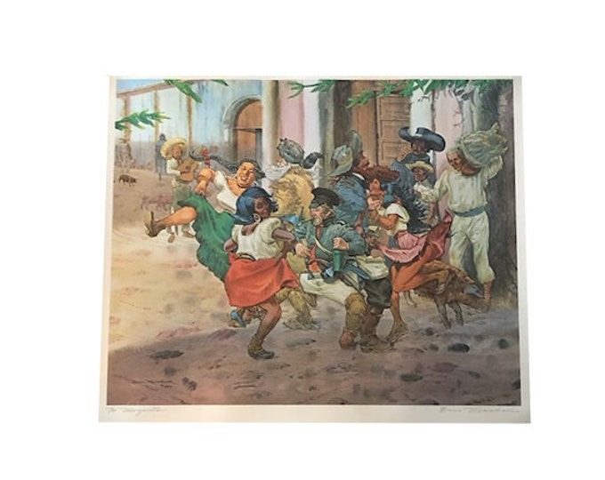 Margaritas Print Signed by artist Bruce Marshall