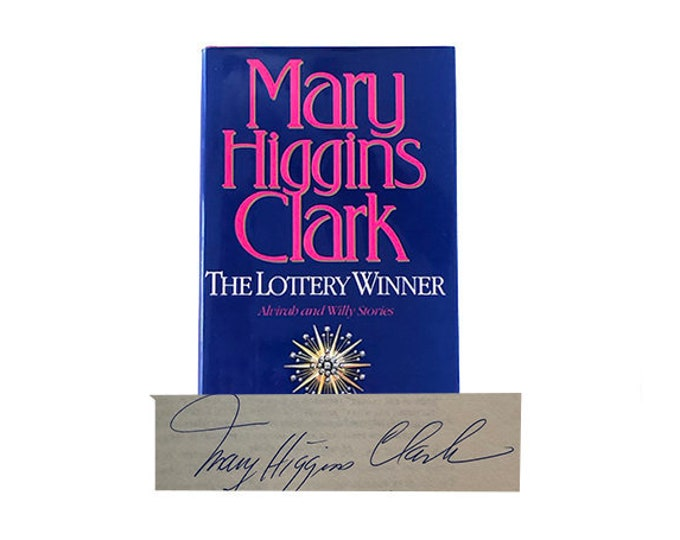 Signed First Edition The Lottery Winner by Mary Higgins Clark