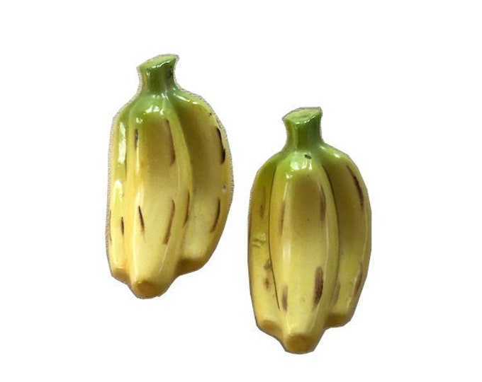 Vintage Ceramic Banana Salt and Pepper Shakers