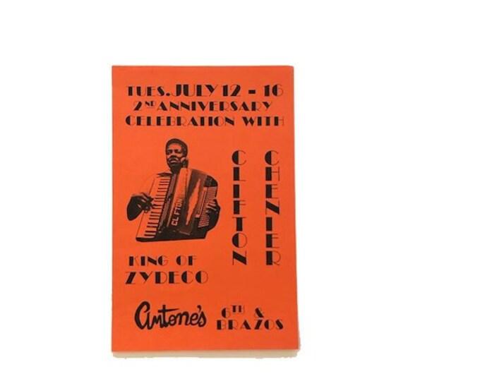 Vintage Clifton Chenier Antones Concert Poster