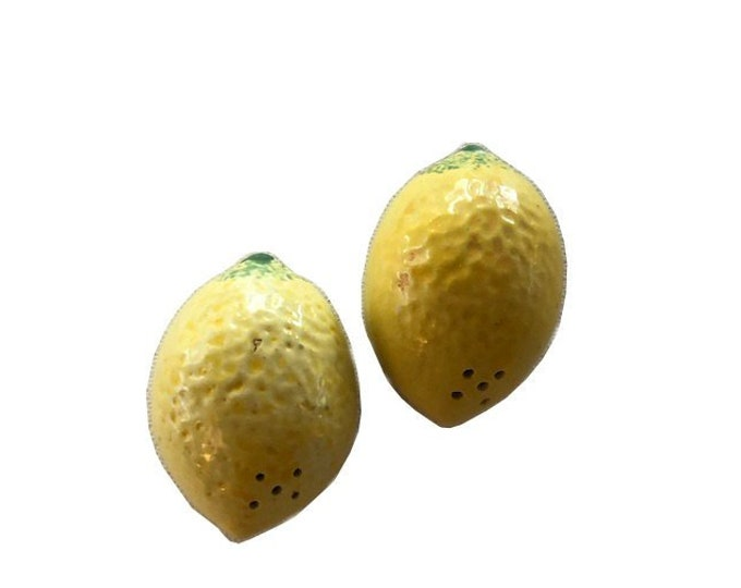 Vintage Ceramic Lemon Salt and Pepper Shakers