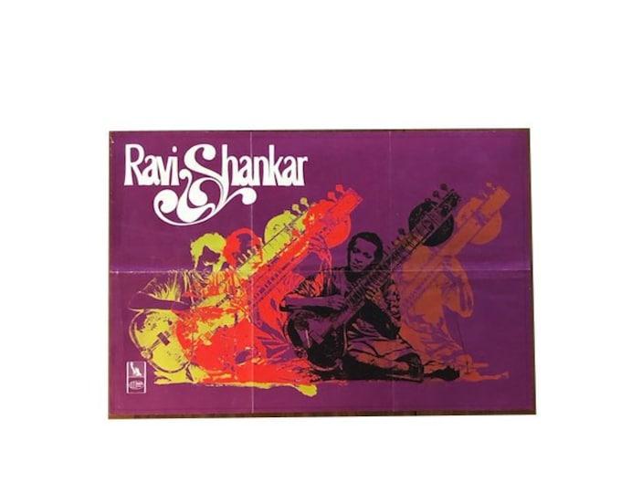 Vintage Ravi Shanker Poster