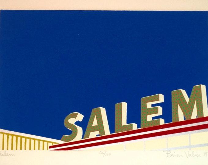 Signed and Number Biron Valier Print 1976 Salem
