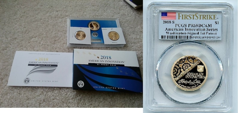 2018 P D S American Innovation Dollar Proof 3 Coin Set  PDS IN STOCK