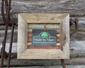 Rustic Barn Wood TIN Clothespin Picture Frame Farmhouse Decor Wall Frame Reclaimed Wood Grey Barnwood