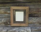 Rustic Barn Wood Wormy Chestnut Frame with Rough Barn Wood Mat Reclaimed Wood Farmhouse Decor Cottage Cabin Decor 8x10, 11x14, 16x20 CUSTOM
