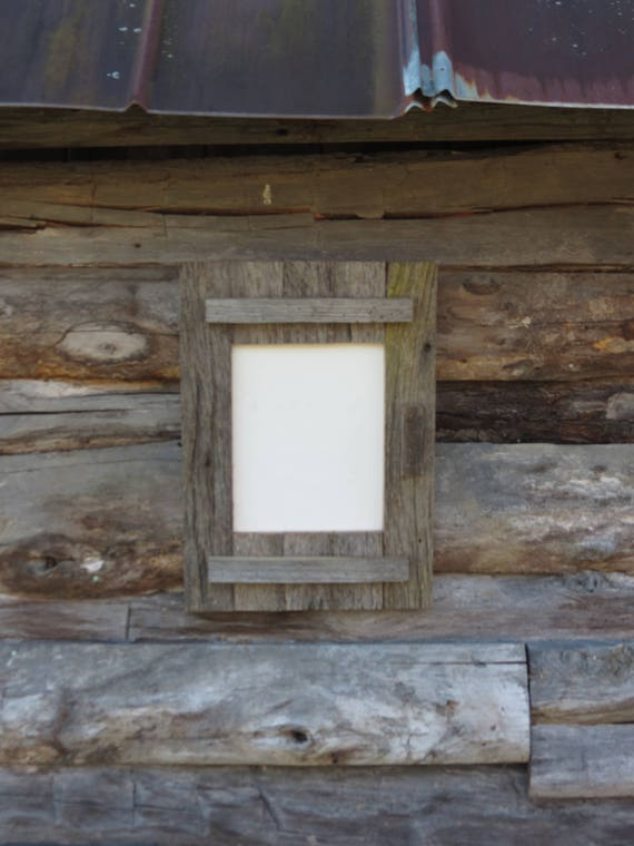 Barn Door Picture Frame Made With Rustic Grey Barn Wood Etsy
