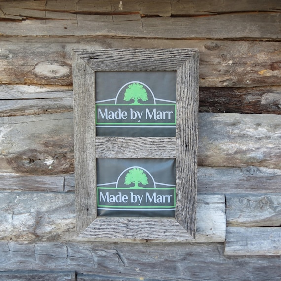 Double Grey Barn Wood Picture Wall Frame 5x7 8x10 11x14 Etsy