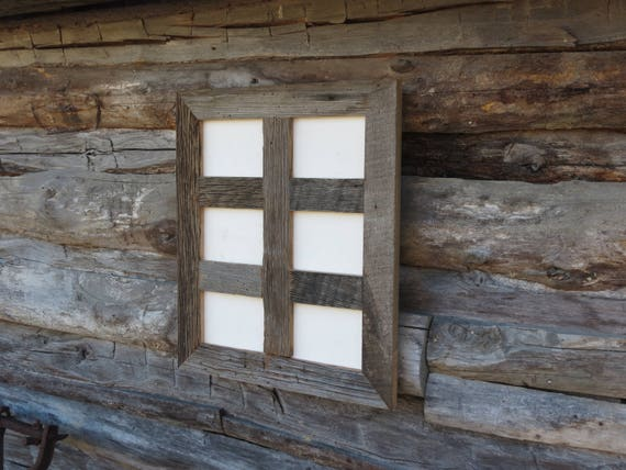 Rustic Grey Barn Wood Collage Frame Holds 6 5x7 Photos Etsy