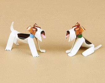 Wire Fox Terrier Dog Sculpture Handmade Copper Miniature   Etsy