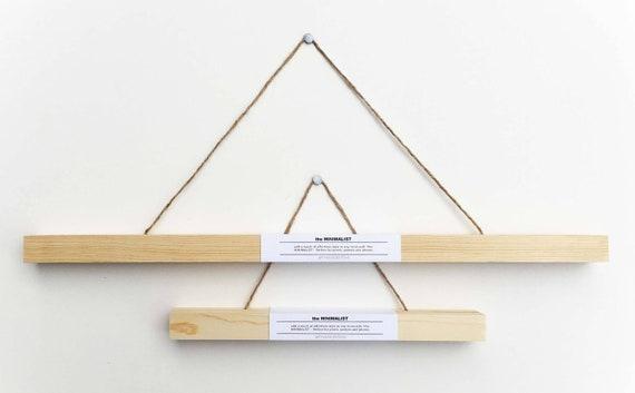 POSTER FRAME Hanging Frame Picture Frame Wooden Hanger | Etsy