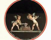 Giovanni Gallo Gouache of Two Cherubs Blacksmithing