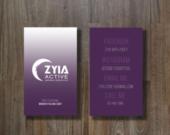 ZYIA Business Card - Plum