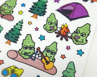 Camping Buddies Stickers *Retiring Design* | Weed stickers, marijuana sticker, summer stickers, camping stickers, cannabis stickers