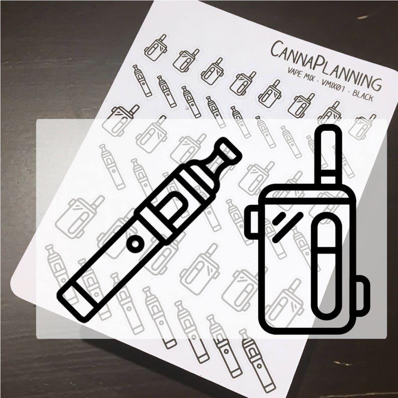 Vape Pen and Box mix icon stickers