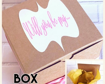 Build Your Own Proposal Box - Be My Bridesmaid - Be My Bridesmaid - Will You Be My MOH - Be My Maid of Honor - Pop the Question - Engaged